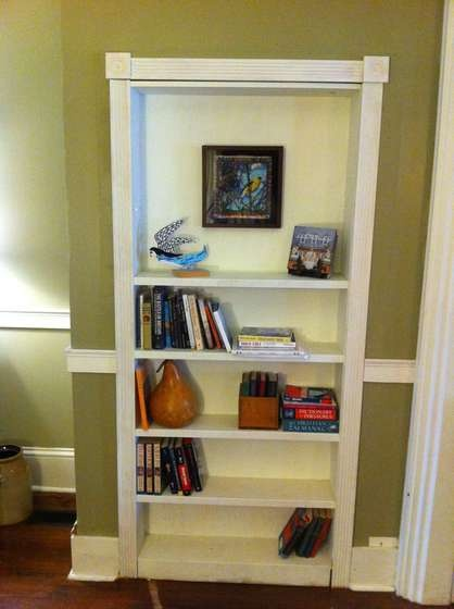 Consider Built In Shelves For A Nested Bookcase, Instead Of Fitting A Small  Desk