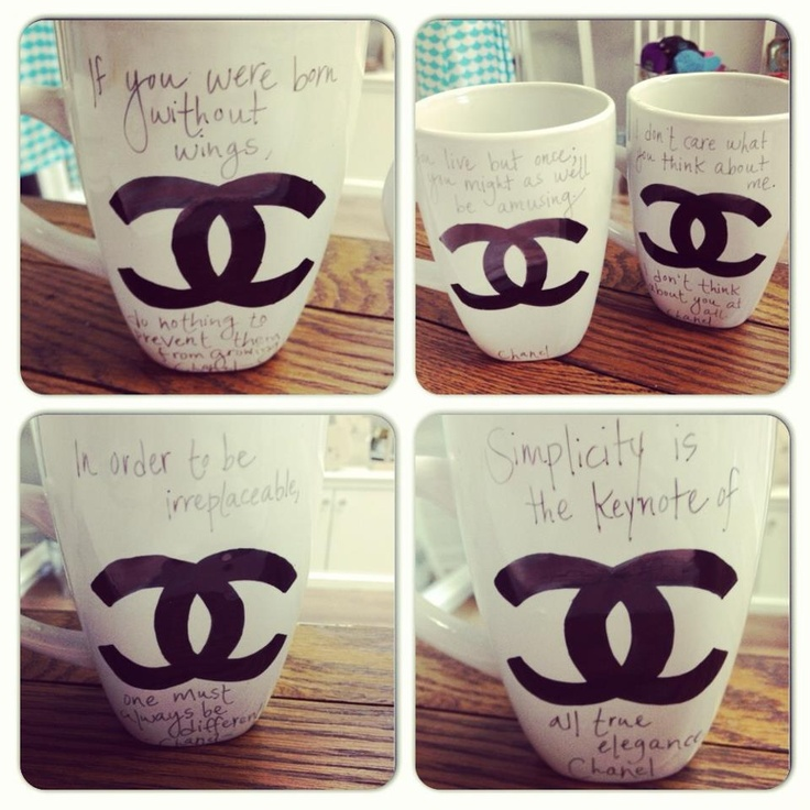 Chanel Mugs...A nice way to start the day!