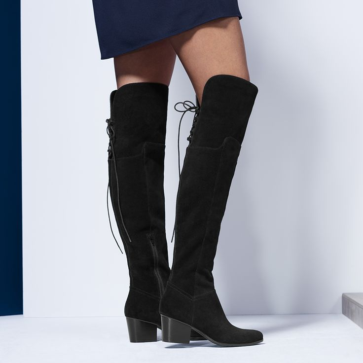 Jeffres Black Other Women's Over-the-knee boots