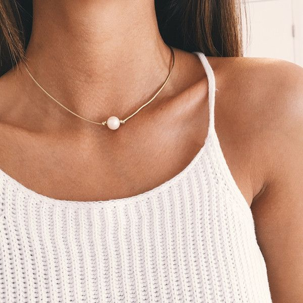 "- white fresh water pearl - 15""-17"" length faux gold leather choker - fresh water pearl clasp closure"
