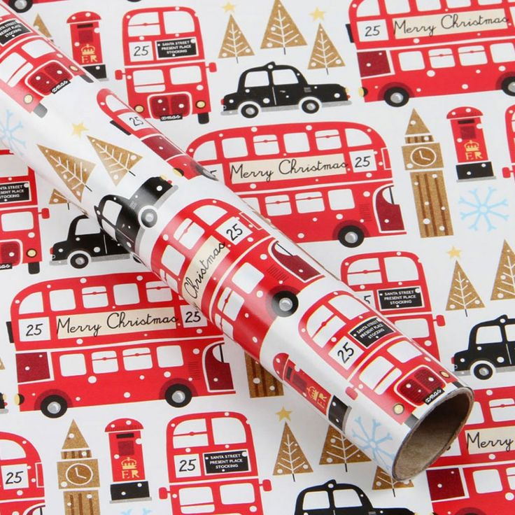 London snow 3m roll wrapping paper