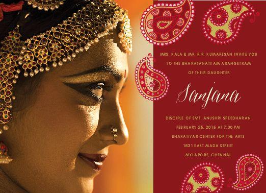 61 best Arangetram Invitations images on Pinterest Invitation