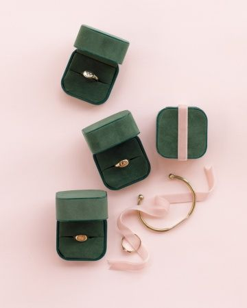 great bridesmaid gift idea - classic signet rings embossed with their initials, and a bracelet for the MOH