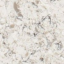 santiago is a quartz countertop design with a warm white background flowing with wispy taupe