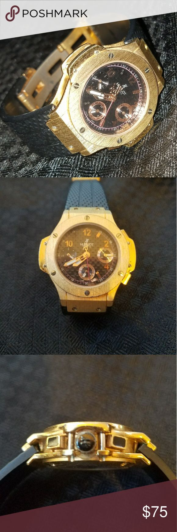 Ladies Watch Swiss Self Winding AAA Hublot This is a great watch. It is an automatic winding watch, which means there is no need for a battery. And the standby time is about 48 hours after wearing. Gliding second hand. Awesome watch, great detail. Hunlot Accessories Watches