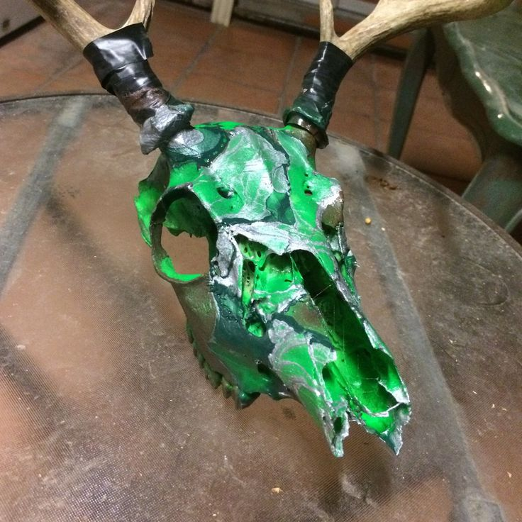 hydro dipped whitetail deer skull projects deer mounts. Black Bedroom Furniture Sets. Home Design Ideas