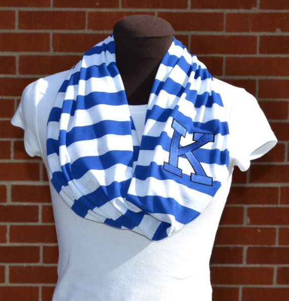 Kentucky Game Day Infinity Scarf Knit Jersey by byrdlegs on Etsy