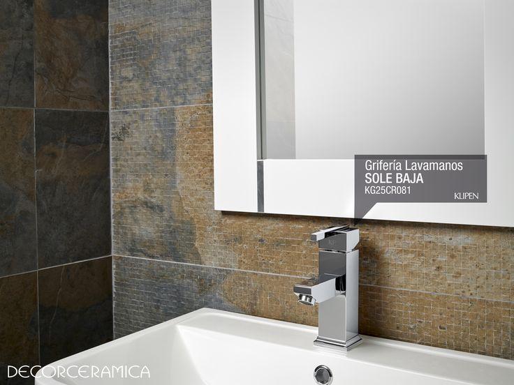 Grifería lavamanos monocontrol Sole baja, de KLIPEN. Líneas rectas que expresan minimalismo y modernidad es el diseño plasmado en este producto monomando de fácil y cómodo manejo... Leer más. http://bit.ly/1e7BYXV #ideasdecor #decorceramica #interiorismo #griferías #decoracion #bañosmodernos #remodelacion #klipen