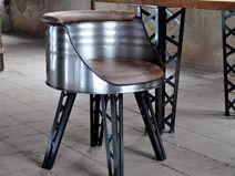 Ideal Fass lfass Stuhl im Gittermast Design aus Stahl