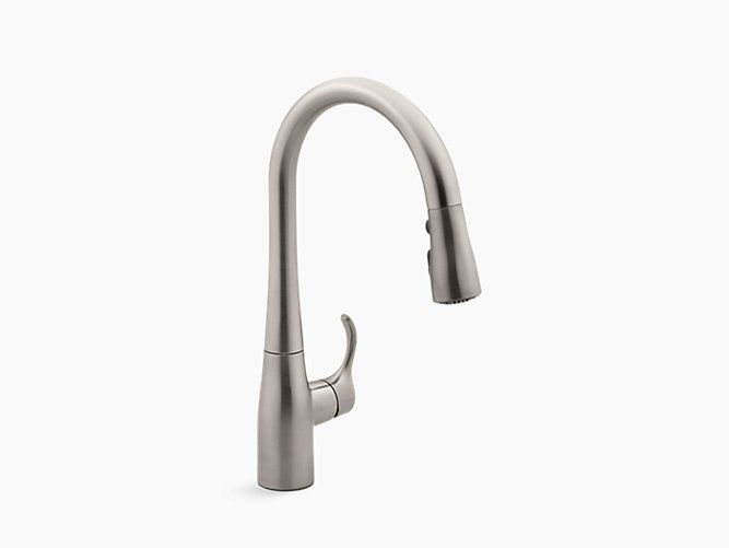 Kohler Simplice Single Hole Or Three Hole Kitchen Sink Faucet