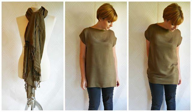 Tanti stili per il vestito-foulard DIY | www.lepecionate.com