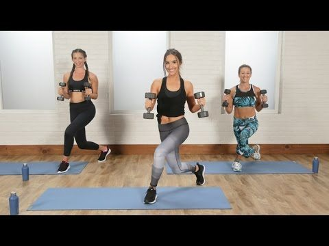 Cardio and toning workout led by Allie Cohen of Barry's Bootcamp will have you…