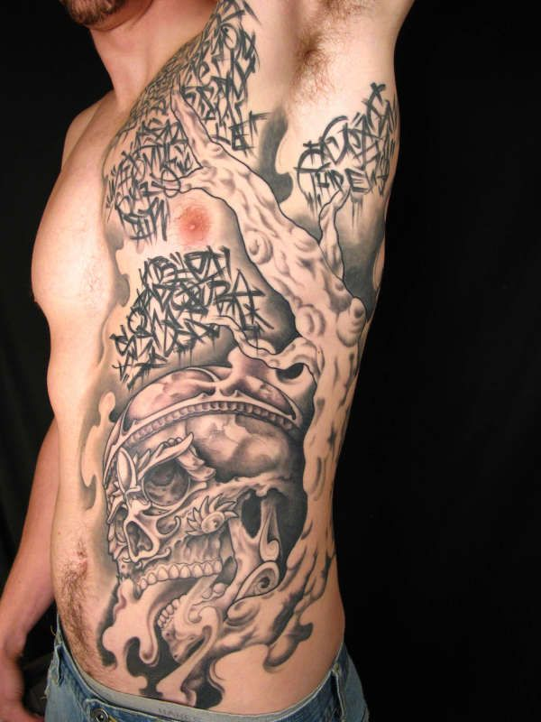 beautiful tattoo on the topic kapala skull and tree tattoo on ribs tree tattoos on ribs. Black Bedroom Furniture Sets. Home Design Ideas