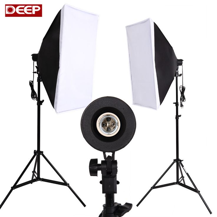 Photography Softbox Lighting Kit Photo Equipment Soft Studio Light Softbox Continuous Lighting Kit 2meter Light Stand LED / 175W //Price: $56.90//     #gadgets