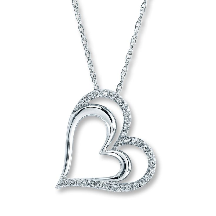 12 best kay jewlers mothers day board images on pinterest kay kay diamond heart necklace 14 ct tw round cut sterling silver mozeypictures Choice Image