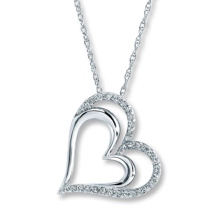 Diamond Heart Necklace with Diamonds, Kay Jewelers