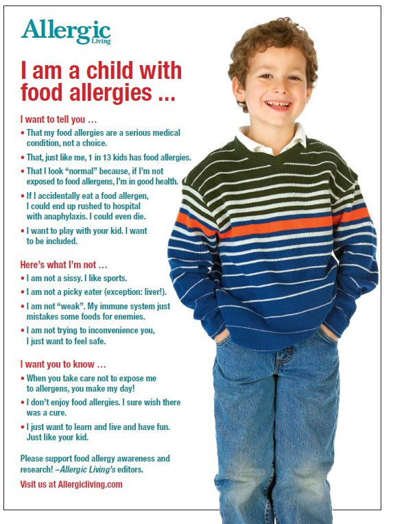 Allergic Living is proud to assist in your food allergy awareness and education efforts with our free 8.5 x 11-inch poster. Click a poster's image to download it. #foodallergyawareness