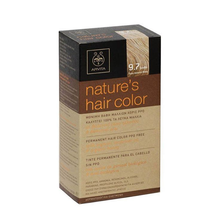 Apivita Nature's Hair Colour,Color,Colorant,Dye with Honey & Sunflower