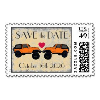 "Customizable #Jeep ""Save the Date"" Wedding Stamps - how cool!"