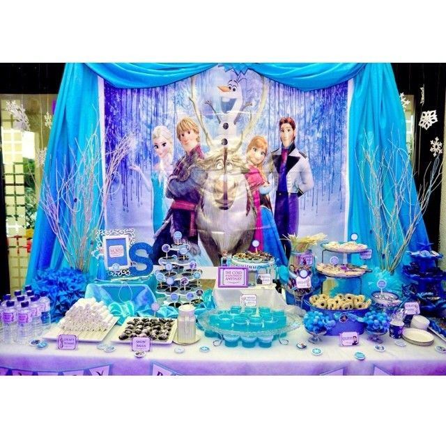 Birthday Party Buffet Table: Frozen Candy Buffet
