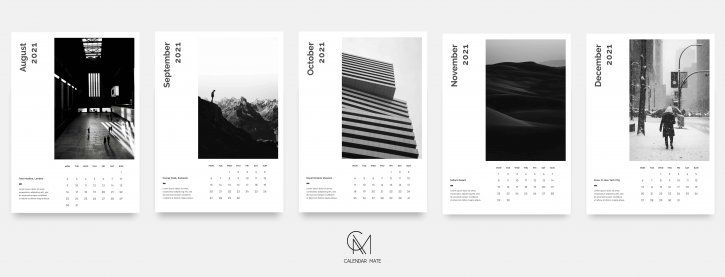 K Lian A Minimal Wall Calendar Template 2021 Psd In 2020 Calendar Design Layout Wall Calendar Calendar Template