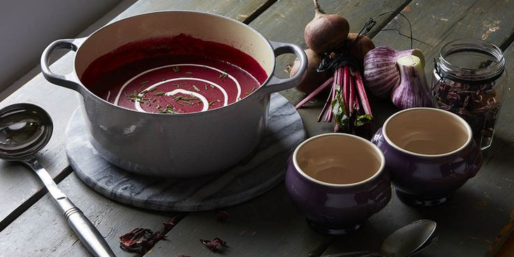 This delicious soup, devised by chef Matt Worswick to celebrate Le Creuset's new Moorland Mist range, uses the best of autumn's seasonal flavours. Plus, we chat to Matt about his inspiration and life after Great British Menu