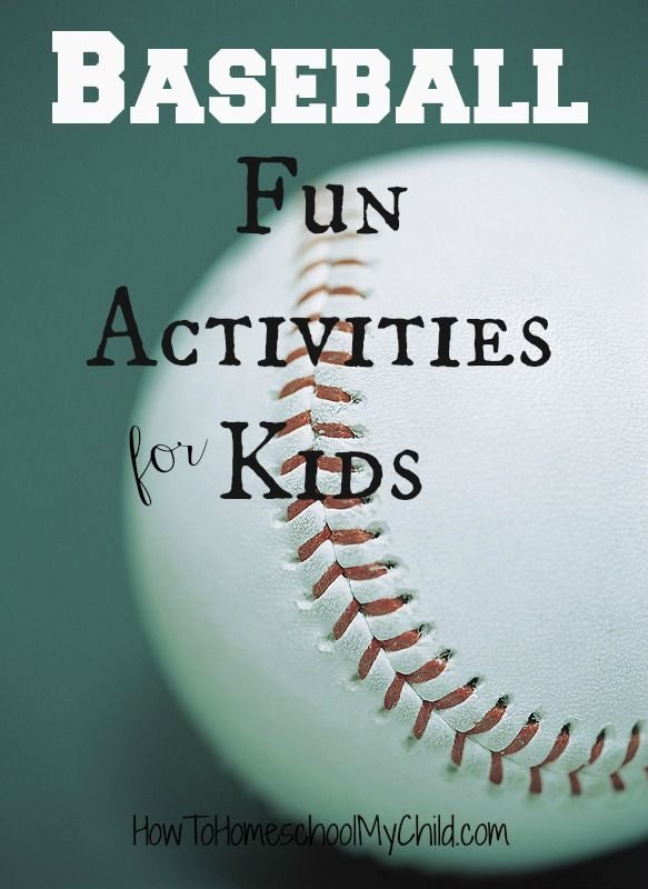 Baseball Fun Activities for Kids {Weekend Links} ~ HowToHomeschoolMyChild.com