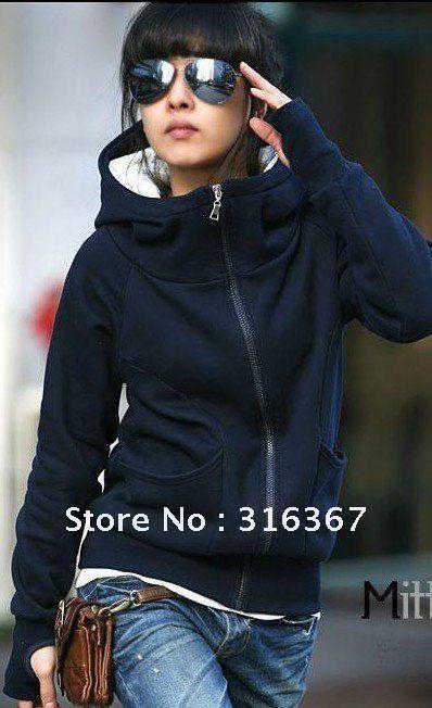 forro de piel sintética de la mujer abrigos de invierno cálido sólido con capucha outwear 2 colores 20