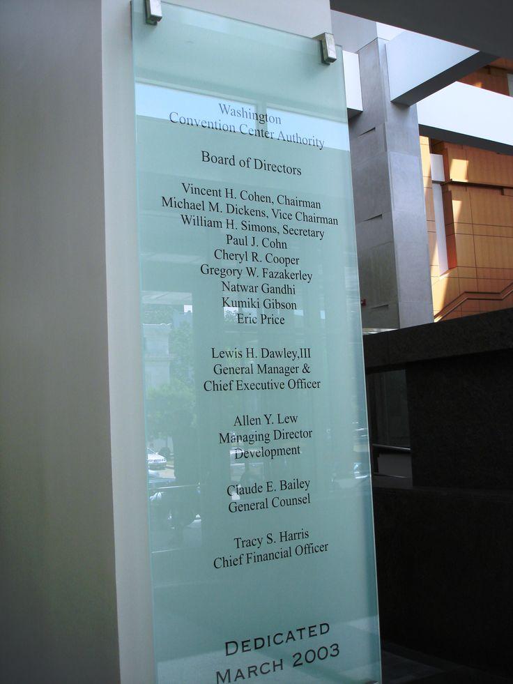 washington convention center donor recognition plaque