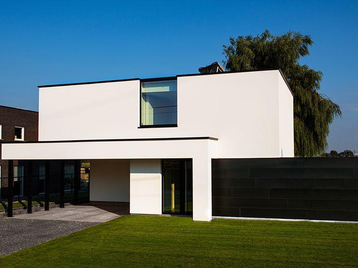 25 beste idee n over moderne huizen op pinterest for Moderne laagbouw woningen