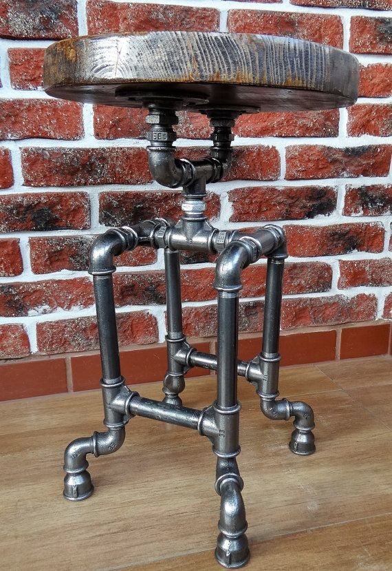 industrial pipe stool by AntikoDiy on Etsy