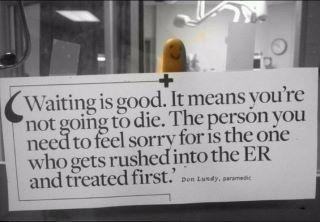 From an ER nurse.
