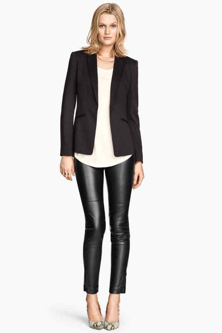 Spodnie z imitacji skóry | H&M