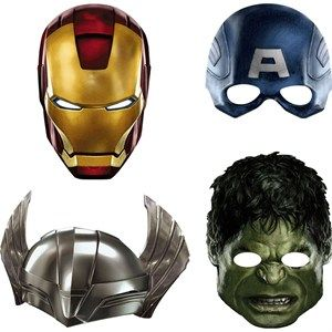 Avengers Party Masks.  $3.49 package of four.