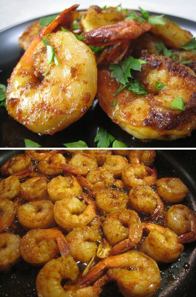 The Simplest and Best Shrimp Dish | Iron Skillet Recipe by Pioneer Settler at http://pioneersettler.com/savory-cast-iron-skillet-dinner-recipes/