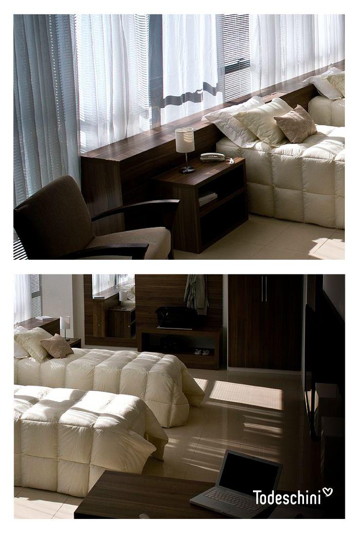 Las habitaciones del hotel son el mejor recuerdo de tus visitantes, nosotros hacemos que te lleven en el corazón. #Diseñodeinteriores #Decoración #Todeschini #ambientes #mueblesamedida #arquitectura #hoteles
