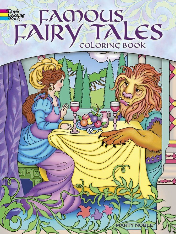 Coloring Book For Adults GrownUps Famous Fairy Tales Designs Creative Activity