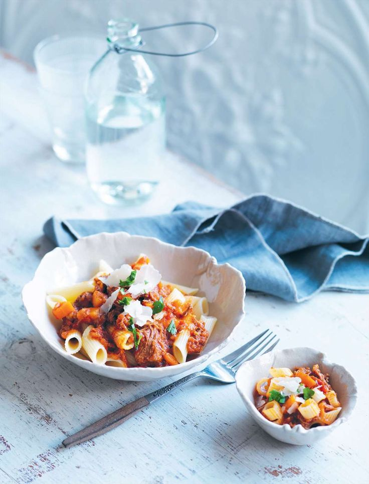 Slow-cooked beef ragu with penne by Louise Fulton Keats from Something For Everyone | Cooked