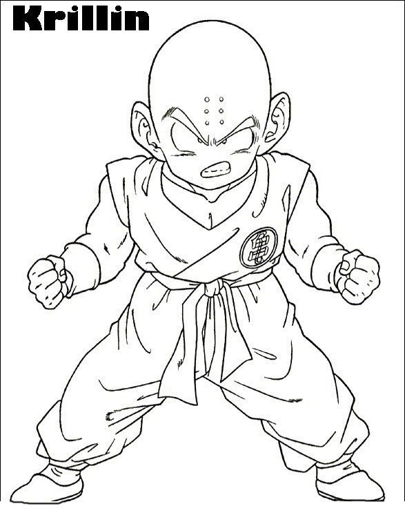 Dragon Ball Kuririn Issiue The Power Coloring Pages