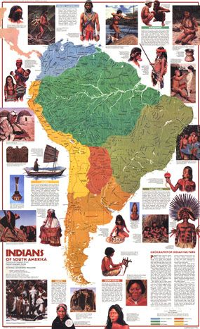 amerindians map | ... Of South America Map 1982 by National Geographic from Maps.com