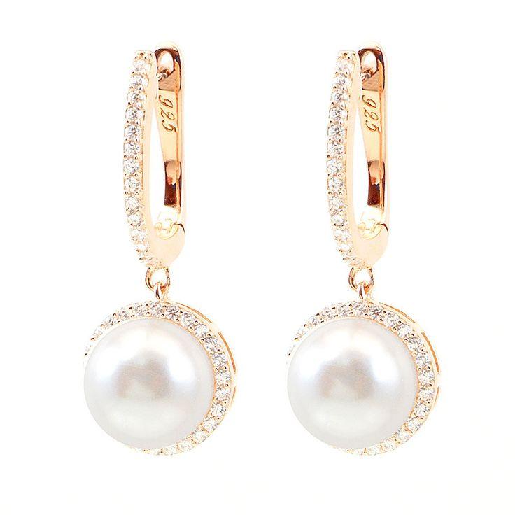 Pearl Drop Silver Earrings