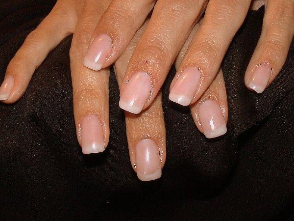 nature french manicure - natürliche Nägel gerade French Manicure <3