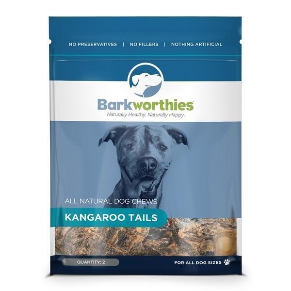 Barkworthies Natural Kangaroo Tails Dog Chew Treats 2pk