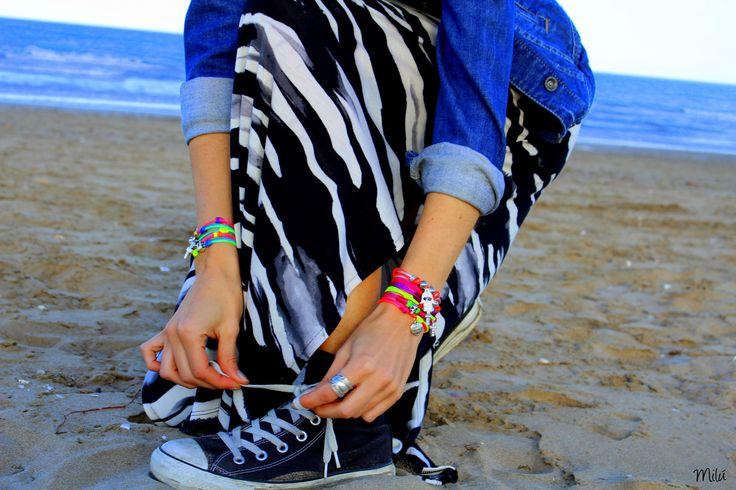 Fluorine Summer Collection    www.milubracelets.com    #milubracelets #shoes #convers #cute #bracelets