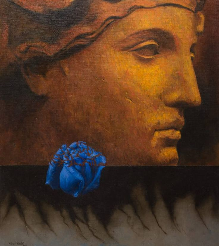 "Saatchi Art Artist Juan Manuel Álvarez Cebrián; Painting, ""Blue Rose"" #art"