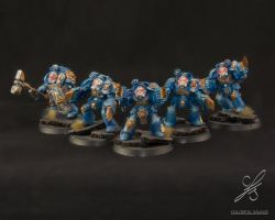 Space Marine Terminator Assault Squad by Colorfulsavage