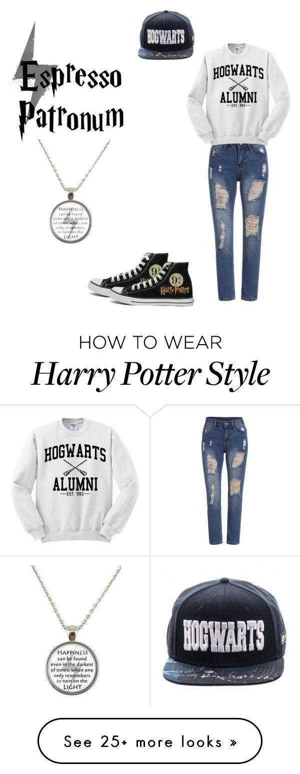 """Harry potter"" by aysha-potter on Polyvore featuring Converse"
