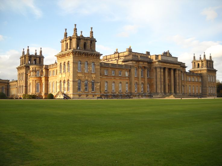 Blenheim Palace, I love the architecture from the gilded age and baroque time periods. The palace is near Oxford, England and is in the English Baroque Style