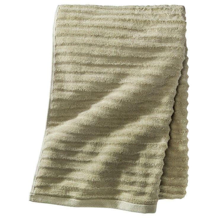 Textured 2-pc Bath Sheet - Green Meadows - Threshold, Aloe Gel