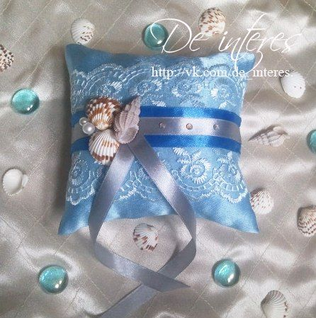 Подушечка для колец от De interes. Ракушки,море.Wedding Ring Pillow, wedding, marriage, nuptials,seashells,the sea